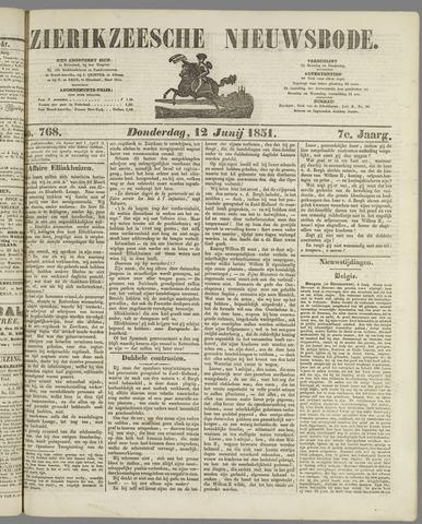 Zierikzeesche Nieuwsbode 1851-06-12