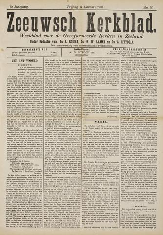 Zeeuwsche kerkbode, weekblad gewijd aan de belangen der gereformeerde kerken/ Zeeuwsch kerkblad 1908-01-17