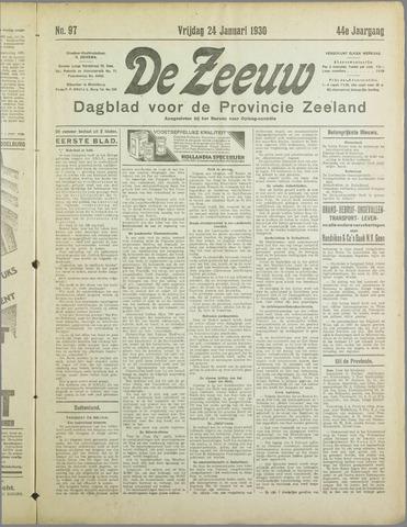 De Zeeuw. Christelijk-historisch nieuwsblad voor Zeeland 1930-01-24