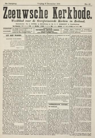 Zeeuwsche kerkbode, weekblad gewijd aan de belangen der gereformeerde kerken/ Zeeuwsch kerkblad 1918-12-06