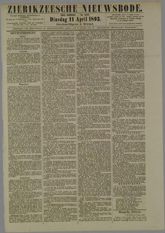 Zierikzeesche Nieuwsbode 1893-04-11