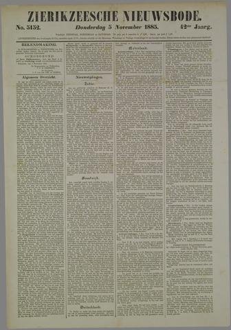 Zierikzeesche Nieuwsbode 1885-11-05
