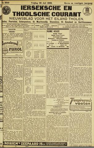 Ierseksche en Thoolsche Courant 1929-07-26