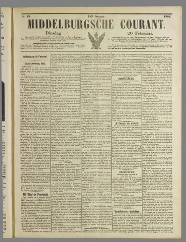 Middelburgsche Courant 1906-02-20
