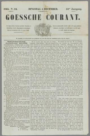 Goessche Courant 1865-12-05
