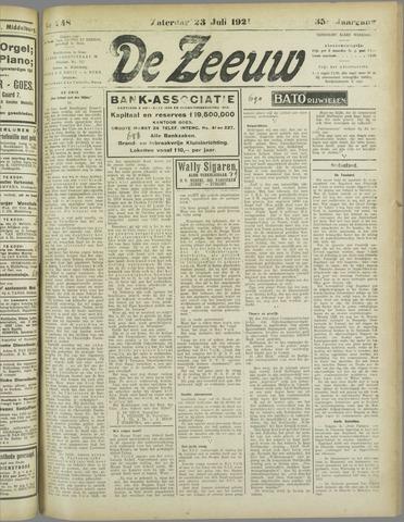 De Zeeuw. Christelijk-historisch nieuwsblad voor Zeeland 1921-07-23