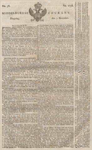 Middelburgsche Courant 1758-11-07