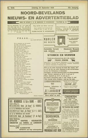 Noord-Bevelands Nieuws- en advertentieblad 1938-09-24