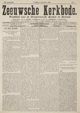 Zeeuwsche kerkbode, weekblad gewijd aan de belangen der gereformeerde kerken/ Zeeuwsch kerkblad 1923