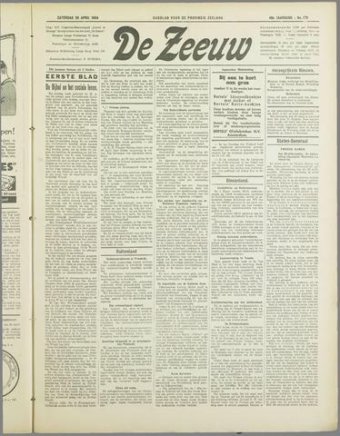 De Zeeuw. Christelijk-historisch nieuwsblad voor Zeeland 1934-04-28