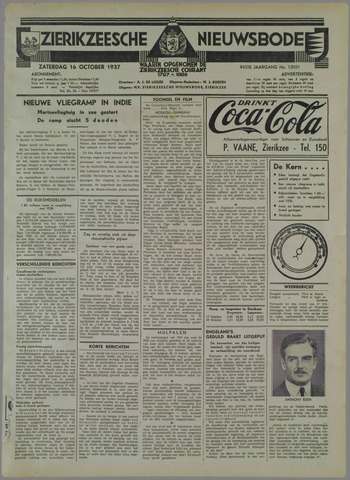 Zierikzeesche Nieuwsbode 1937-10-16