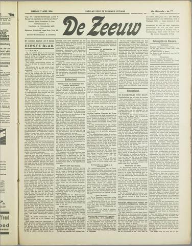 De Zeeuw. Christelijk-historisch nieuwsblad voor Zeeland 1934-04-17