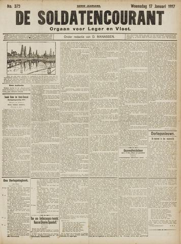De Soldatencourant. Orgaan voor Leger en Vloot 1917-01-17