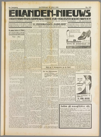 Eilanden-nieuws. Christelijk streekblad op gereformeerde grondslag 1938-07-30