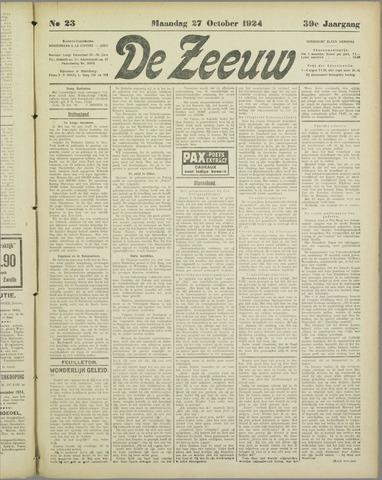 De Zeeuw. Christelijk-historisch nieuwsblad voor Zeeland 1924-10-27