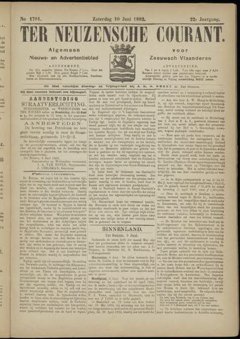 Ter Neuzensche Courant. Algemeen Nieuws- en Advertentieblad voor Zeeuwsch-Vlaanderen / Neuzensche Courant ... (idem) / (Algemeen) nieuws en advertentieblad voor Zeeuwsch-Vlaanderen 1882-06-10