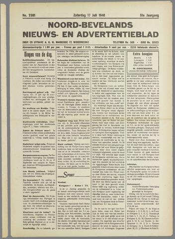 Noord-Bevelands Nieuws- en advertentieblad 1948-07-17