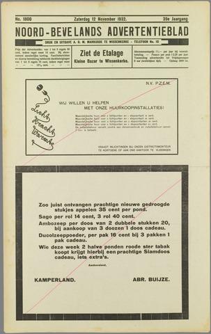 Noord-Bevelands Nieuws- en advertentieblad 1932-11-12