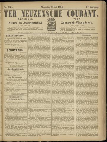 Ter Neuzensche Courant. Algemeen Nieuws- en Advertentieblad voor Zeeuwsch-Vlaanderen / Neuzensche Courant ... (idem) / (Algemeen) nieuws en advertentieblad voor Zeeuwsch-Vlaanderen 1894-05-02