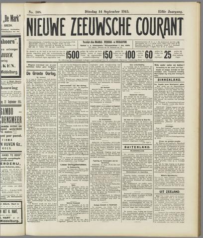 Nieuwe Zeeuwsche Courant 1915-09-14