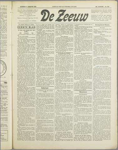 De Zeeuw. Christelijk-historisch nieuwsblad voor Zeeland 1934-08-11