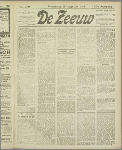 De Zeeuw. Christelijk-historisch nieuwsblad voor Zeeland 1916-08-16