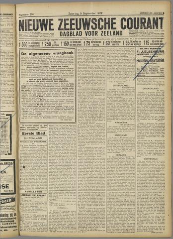 Nieuwe Zeeuwsche Courant 1922-09-09