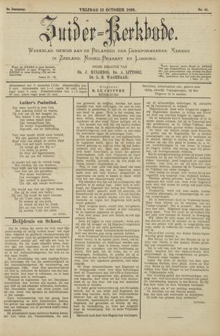 Zuider Kerkbode, Weekblad gewijd aan de belangen der gereformeerde kerken in Zeeland, Noord-Brabant en Limburg. 1899-10-13