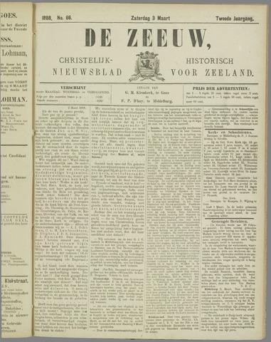 De Zeeuw. Christelijk-historisch nieuwsblad voor Zeeland 1888-03-03