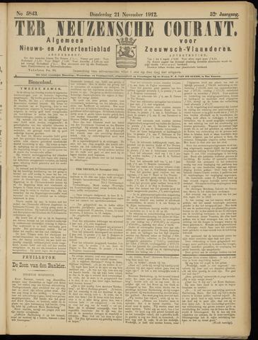 Ter Neuzensche Courant. Algemeen Nieuws- en Advertentieblad voor Zeeuwsch-Vlaanderen / Neuzensche Courant ... (idem) / (Algemeen) nieuws en advertentieblad voor Zeeuwsch-Vlaanderen 1912-11-21