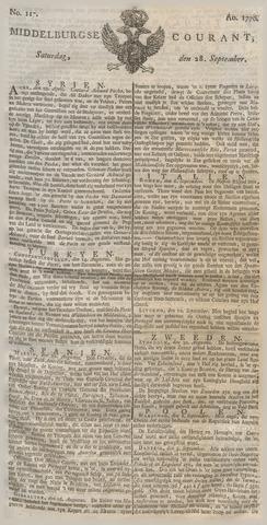 Middelburgsche Courant 1776-09-28