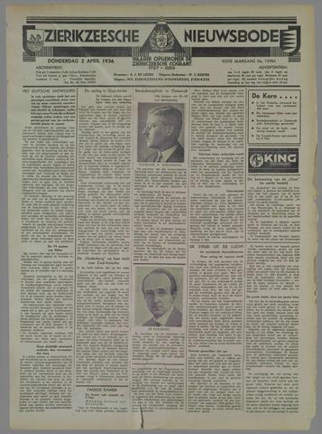 Zierikzeesche Nieuwsbode 1936-04-02