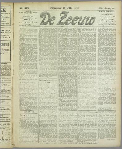 De Zeeuw. Christelijk-historisch nieuwsblad voor Zeeland 1919-06-16