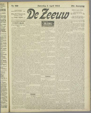 De Zeeuw. Christelijk-historisch nieuwsblad voor Zeeland 1924-04-05