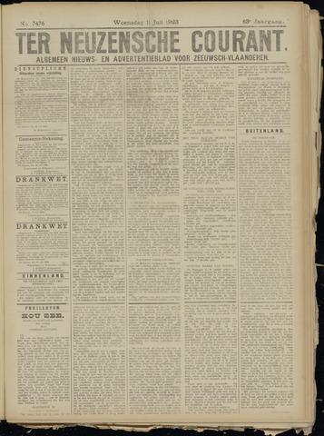 Ter Neuzensche Courant. Algemeen Nieuws- en Advertentieblad voor Zeeuwsch-Vlaanderen / Neuzensche Courant ... (idem) / (Algemeen) nieuws en advertentieblad voor Zeeuwsch-Vlaanderen 1923-07-11