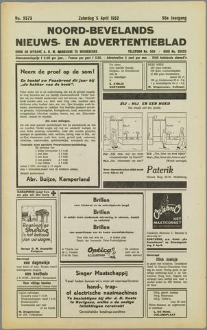 Noord-Bevelands Nieuws- en advertentieblad 1952-04-05
