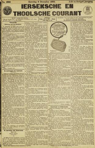 Ierseksche en Thoolsche Courant 1922-12-09