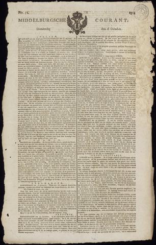 Middelburgsche Courant 1814-10-06