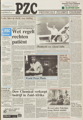 Provinciale Zeeuwse Courant 1987-02-14