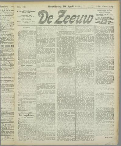 De Zeeuw. Christelijk-historisch nieuwsblad voor Zeeland 1919-04-10