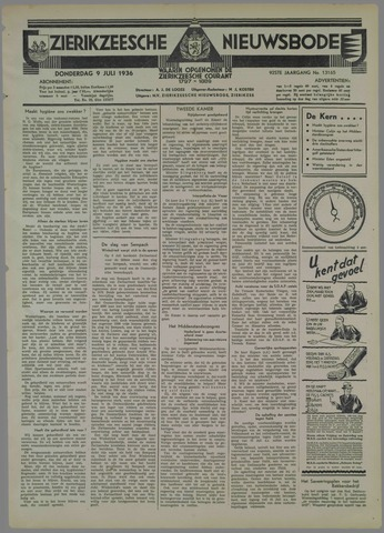 Zierikzeesche Nieuwsbode 1936-07-09