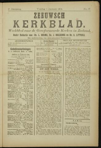 Zeeuwsche kerkbode, weekblad gewijd aan de belangen der gereformeerde kerken/ Zeeuwsch kerkblad 1904-01-01