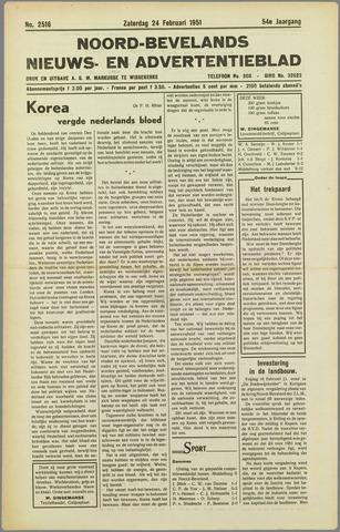 Noord-Bevelands Nieuws- en advertentieblad 1951-02-24