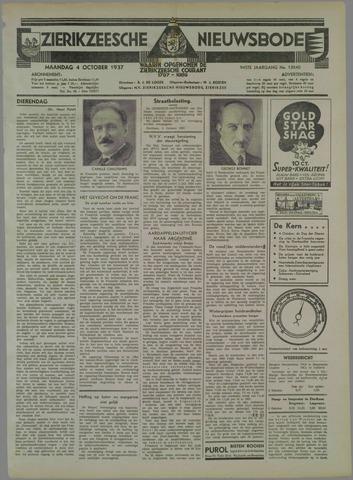Zierikzeesche Nieuwsbode 1937-10-04