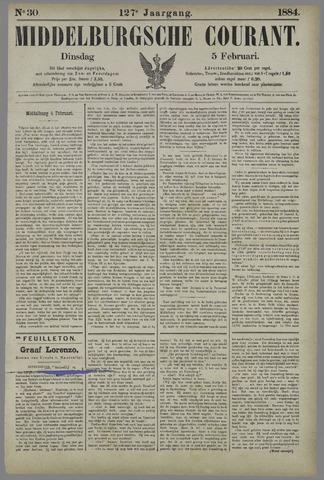 Middelburgsche Courant 1884-02-05