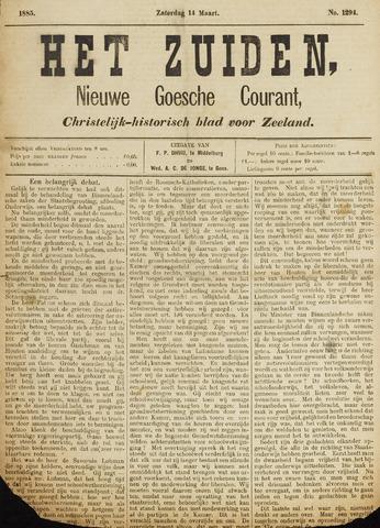 Het Zuiden, Christelijk-historisch blad 1885-03-14