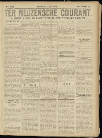 Ter Neuzensche Courant. Algemeen Nieuws- en Advertentieblad voor Zeeuwsch-Vlaanderen / Neuzensche Courant ... (idem) / (Algemeen) nieuws en advertentieblad voor Zeeuwsch-Vlaanderen 1924-07-21