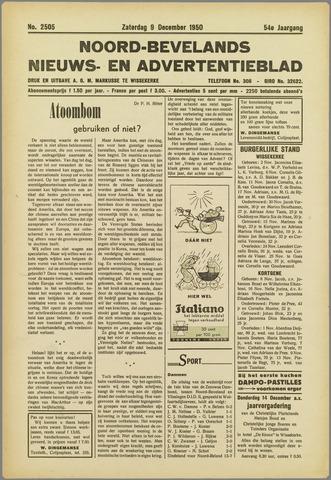 Noord-Bevelands Nieuws- en advertentieblad 1950-12-09