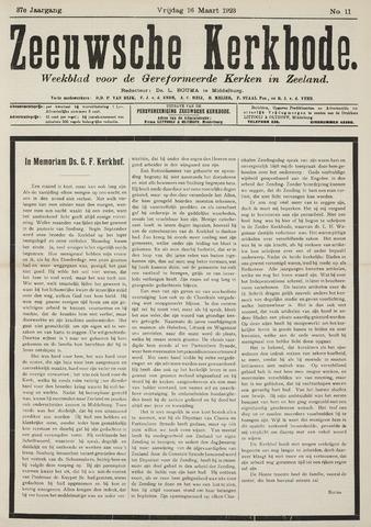 Zeeuwsche kerkbode, weekblad gewijd aan de belangen der gereformeerde kerken/ Zeeuwsch kerkblad 1923-03-16