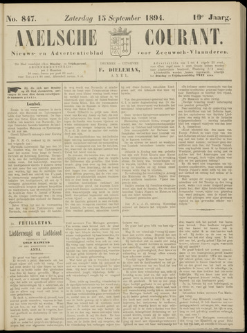 Axelsche Courant 1894-09-15